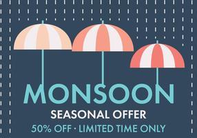 Offerta di vettore dell'ombrello di monsone