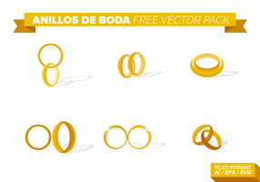 Anillos De Boda Vector Pack gratuito