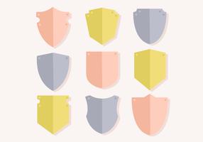 Vettore di scudi emblema gratis