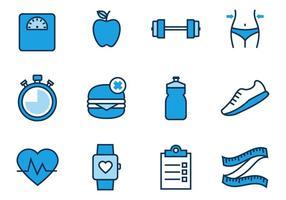 Vettore libero delle icone di salute e forma fisica
