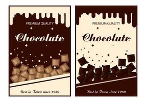 Modelli di vettore di etichetta di cioccolato