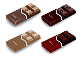 Disegni di vettore della barra di cioccolato