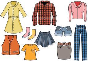 Vettori di vestiti alla moda