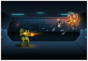 Illustrazione vettoriale di gioco robot
