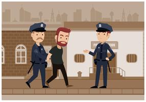 Illustrazione vettoriale di polizia
