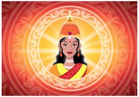 Illustrazione vettoriale di Lakshmi gratis