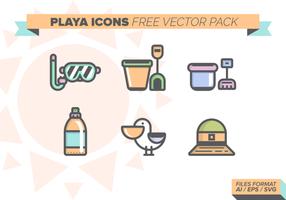 Pacchetto di icone vettoriali gratis di Playa