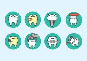 vettore icona dentista