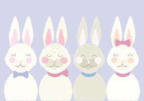 Carino illustrazione vettoriale di coniglietti pasquali