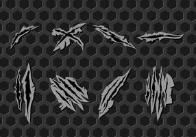 Vettore libero dei segni dei graffi del metallo