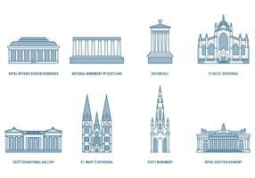 Monumenti di Edimburgo vettore