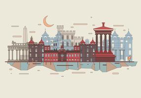 Vettore di skyline della città di Edimburgo