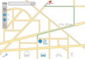 Aspetto e icone GPS vettore