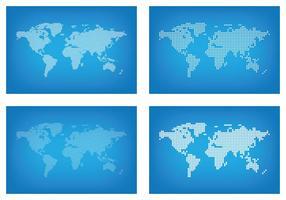 Punti della mappa del mondo grafico vettore
