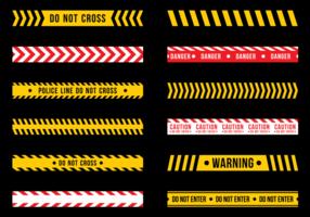 Nastro di pericolo vettoriali gratis