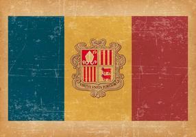 Bandiera di Andorra su sfondo stile grunge