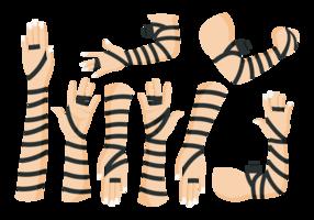 Mani in tefillin in pelle nera vettore