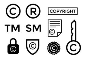 Vettore di simbolo del copyright