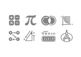 Vettori di simboli matematici grigi