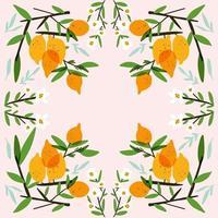 raccolta di frutta fresca di limone vettore
