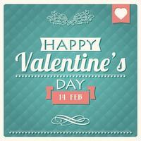 felice poster tipografico di san valentino vettore