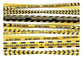 Vettori di nastro di pericolo giallo