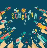 incredibile design thailandese del festival songkran vettore