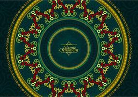 Vettore gratuito dell'ornamento islamico
