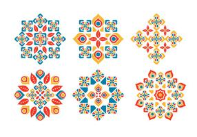 Pacchetto di vettore di ornamento islamico