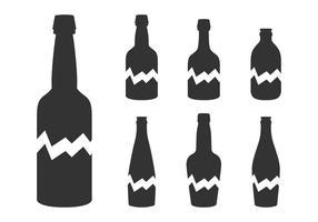 Silhouette bottiglia rotta vettore