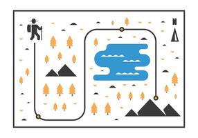 Mappa del nordic walking vettore