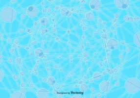 Sfondo di molecola tecnologica vettoriale