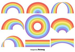 Insieme vettoriale di arcobaleno