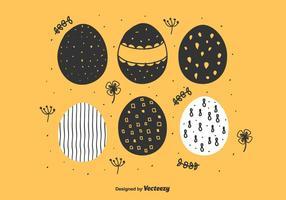 Uova di Pasqua disegnate a mano