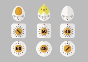 Simpatico pacchetto di oggetti Vector Timer uovo