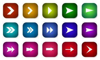 raccolta di icone freccia colorata varia vettore