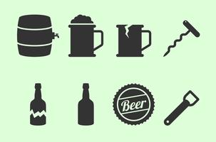 Birra icona vettori