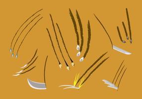 Vettori di segni di graffi e di coltelli