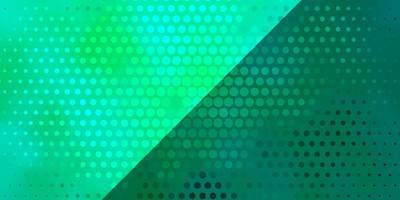 sfondo verde con cerchi.