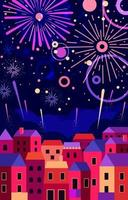 fuochi d'artificio di capodanno