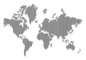 Linea mondo mappa vettoriale