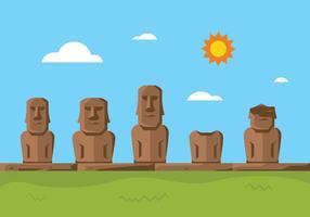 Statua dell'Isola di Pasqua vettore