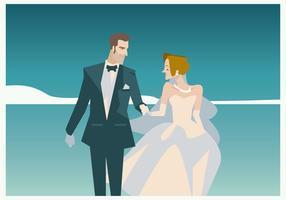 Coppia nel vettore di matrimonio