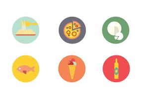 vettore dell'icona della bevanda del cibo di napoli