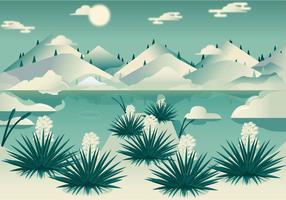 Vettore del paesaggio di Yucca del deserto