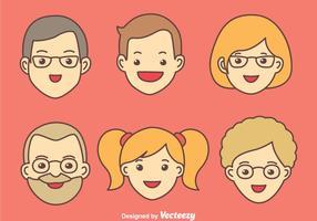 Vettori di famiglia felice
