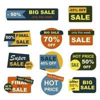 set di badge di grande vendita vettore