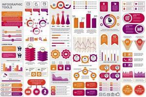 raggruppare elementi di infografica aziendale vettore