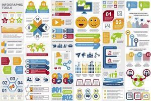 raggruppare elementi di infografica sui social media