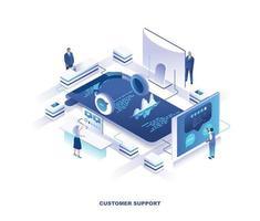 progettazione isometrica del servizio di supporto tecnico o del cliente vettore